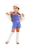 美丽的时髦的小女孩 库存照片