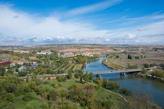 美丽的景色在托莱多,西班牙 免版税库存照片