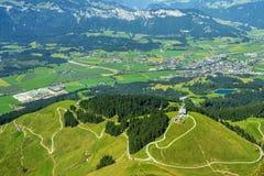 美丽的景色在提洛尔,奥地利 图库摄影