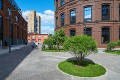 美丽的景色在被重建的莫斯科 免版税库存照片
