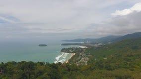 美丽的景色Kata和Karon海滩在普吉岛 影视素材