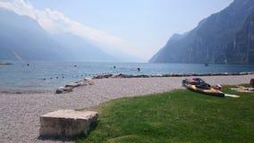 美丽的景色Riva的di garda Garda湖 库存图片