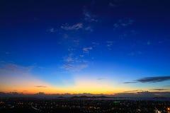 美丽的暮色天空 库存图片
