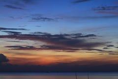 美丽的暮色天空 库存照片