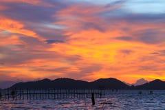 美丽的暮色天空 免版税图库摄影