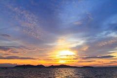 美丽的暮色天空 免版税库存照片