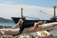 美丽的最近的海运妇女年轻人 库存图片
