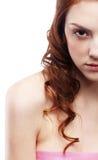 美丽的有雀斑的女孩 图库摄影