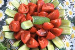 美丽的服务蔬菜盘 库存图片