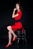 美丽的服装万圣节妇女 图库摄影