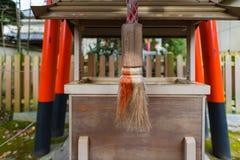 美丽的木寺庙 免版税库存照片