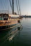 美丽的木风船 库存照片