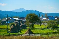 美丽的村庄在罗马尼亚 免版税图库摄影