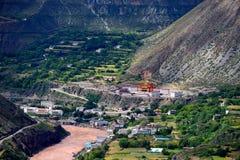 美丽的村庄在西藏 库存图片