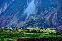 美丽的村庄在西藏 图库摄影