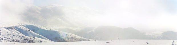 美丽的村庄芬兰森林红色s雪传说冬天 库存照片