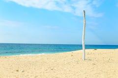 美丽的松巴岛蓝色海滩 库存照片