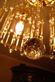 美丽的枝形吊灯水晶 库存照片