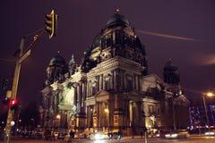 美丽的柏林大教堂柏林Dom的看法 库存照片