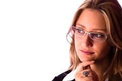 美丽的查找妇女 免版税库存图片