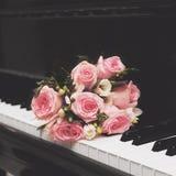 美丽的桃红色花束 免版税图库摄影
