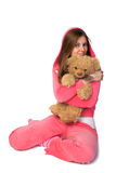 美丽的桃红色运动装妇女年轻人 免版税图库摄影
