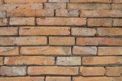 美丽的桔子被仿造的砖墙 免版税库存照片