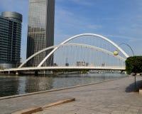 美丽的桥梁在天津,中国 库存图片
