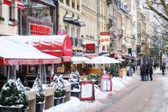 美丽的桥梁城市卢森堡世界 库存照片