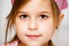 美丽的棕色眼睛 图库摄影