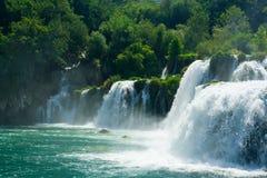 美丽的森林瀑布 图库摄影