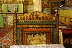 美丽的椅子在Vank大教堂,伊斯法罕,伊朗里 库存图片