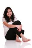 美丽的楼层松弛青少年的妇女年轻人 库存照片