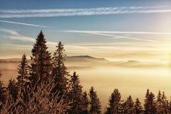 美丽的横向山 免版税库存照片