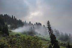 美丽的横向山 库存图片