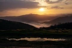 美丽的横向山 免版税库存图片