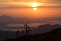 美丽的横向山 免版税图库摄影
