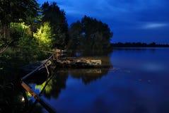 美丽的横向河 免版税图库摄影