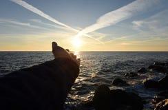 美丽的横向海运 免版税库存图片