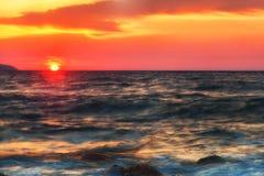 美丽的横向海运 库存照片