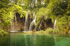 美丽的横向瀑布原野 图库摄影