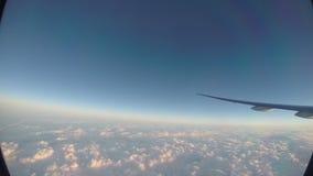 美丽的欧洲国家,河从上面 乘客POV旅行航空 股票视频