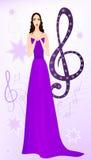 美丽的歌剧歌唱家 免版税库存照片