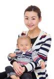 美丽的母亲儿子 免版税库存图片