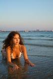 美丽的比基尼泳装妇女 免版税库存照片