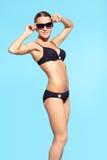 美丽的比基尼泳装妇女 免版税库存图片