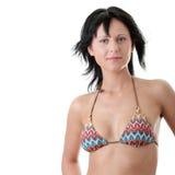 美丽的比基尼泳装适合的性感的妇女 图库摄影