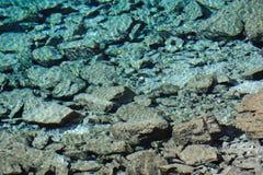 美丽的水和石头 库存图片