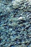 美丽的水和石头 库存照片