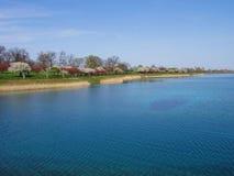 美丽的水库 免版税库存图片